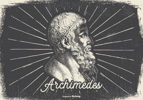 Vintage Illustration of Archimedes