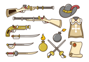 Musketeer Pictogrammen Vector