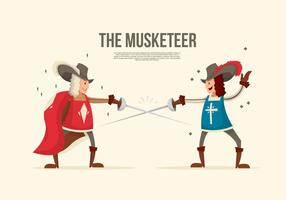 De Battle Musketeer Vector Illustratie