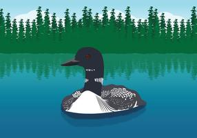 Schwimmen Loon Illustration