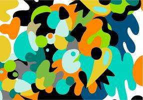 Abstract color blobs vector