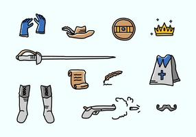 Musketeer Vector Pictogrammen
