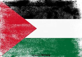 Vector Grunge Gaza Strip Palestine Flag