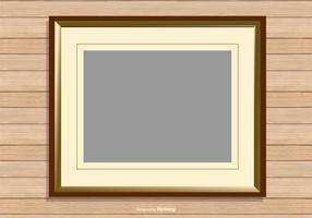 Picture Frame on Wood Background vector