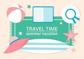 Vector de diseño libre de tiempo de verano de fondo