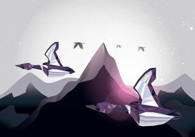 Migration of Loon-Low Poly Style Vector
