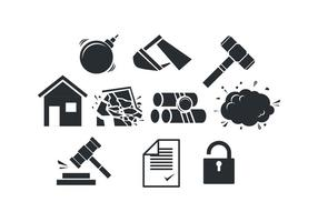 Gratis Demolition Sillouette Icon Vector