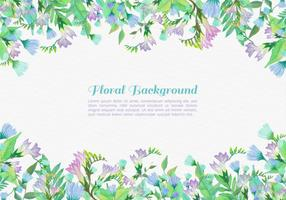 Free-vector-painted-flowers-background