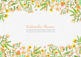 Free Vector Painted Orange Flowers Background