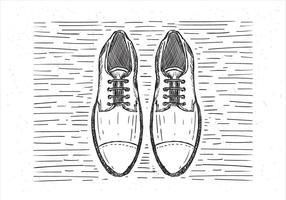 Ilustração de sapatos desenhados a mão do vetor livre