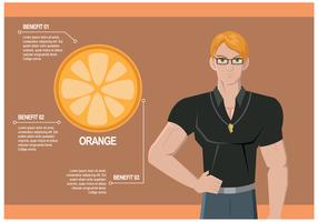 Personlig tränare pratar om fruktfördelar Vector