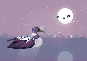 Loon Bird Low Poly stile vettoriale