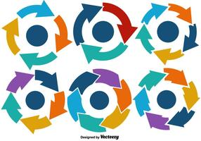 Graphiques vectoriels du cycle de vie