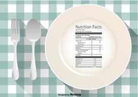 Vektor näringsfakta på en tallrik