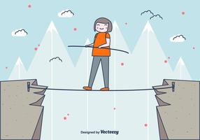 Tightrope Walker Vector Background