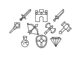 Gratis Game Rpg Line Icon Vector