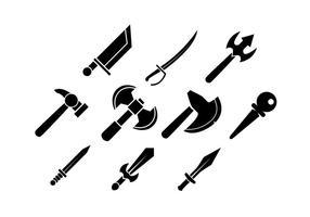 Free Game Rpg Silhouette Icon Vector