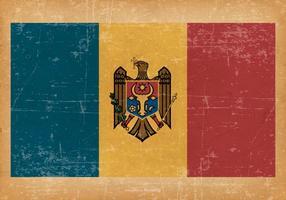 Grunge Flagga av Moldavien