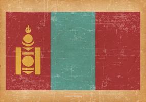 Drapeau grunge de Mongolie