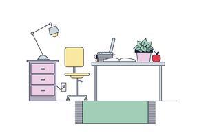 Gratis Schreibtisch Vektor