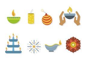 Vecteurs Diwali Plats