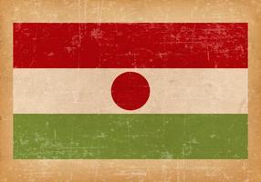 Grunge flagga av Niger