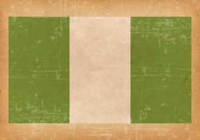 Grunge flagga av Nigeria