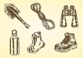 Litograph Hiking Vector Icons
