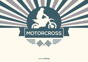 Retro Motorcross Illustratie