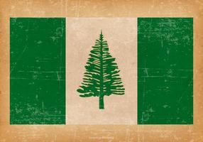 Grunge Bandera de la isla de Norfolk