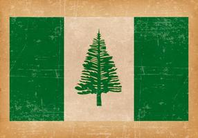 Grunge Flagga Norfolk Island