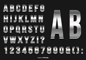 Colección de alfabeto de plata brillante