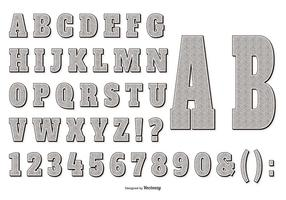 Retro-Gravur-Stil-Alphabet-Collecttion