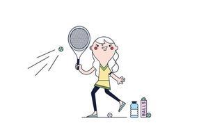 Free Tennis Vector