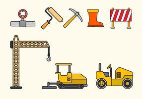 Vetores de construção de estradas