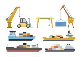 Vectores de logística de envío
