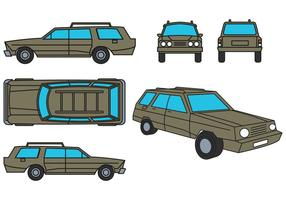 Stationwagen Vector Set