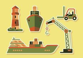 Shipyard Supply Transportation Vector Illustration