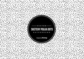 Schetsmatige Polka Dot Achtergrond