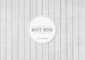 Fondo blanco de madera del vector