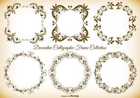 Colección decorativa de marcos vectoriales