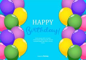 Colorful Happy Birthday Illustration