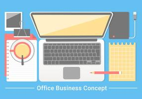 Gratis Flat Design Vector Office Business Elementen