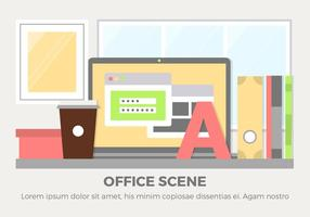 Free Design Vector Office Scene