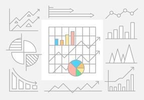 Éléments vectoriels infographiques linéaires