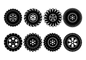 Freie Off-Road-Reifen Rad Vektor