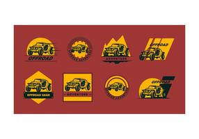 Kostenlose Offroad Logo Vector Collection