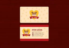 Pet Shop Name Card Free Vector