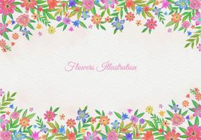 Free-vector-watercolor-floral-background