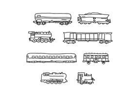 Cabooses et trains